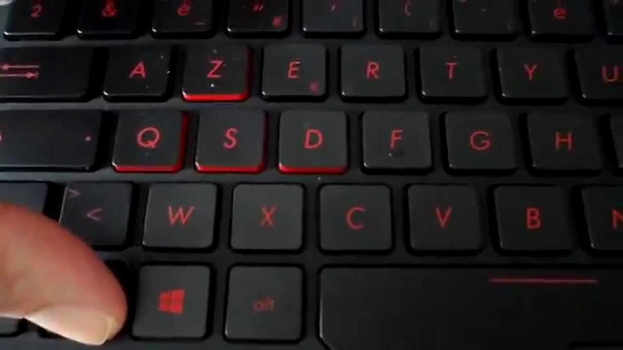 éclairage clavier asus