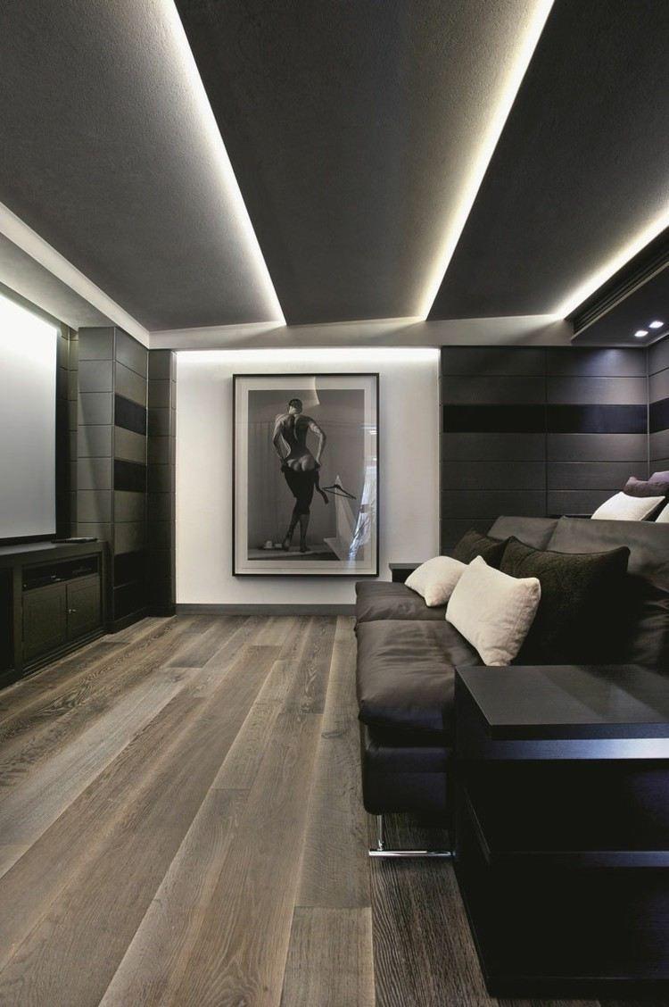 eclairage plafond suspendu design
