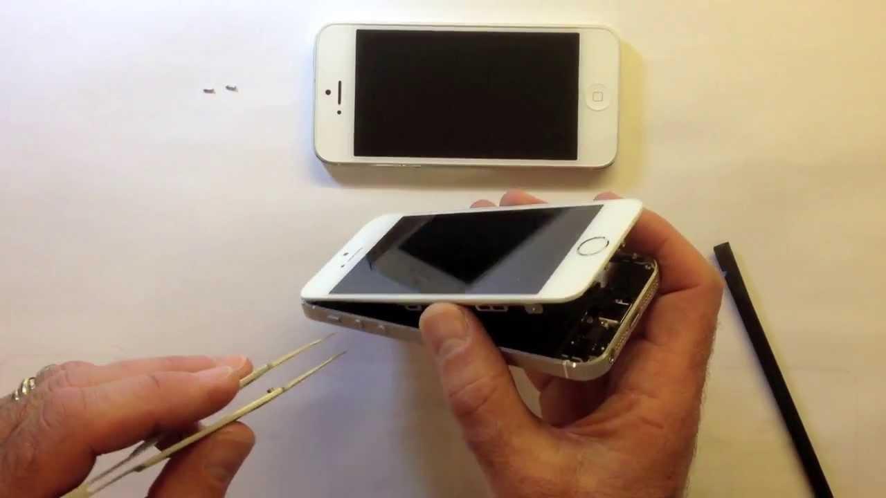 ecran iphone 5 se decolle