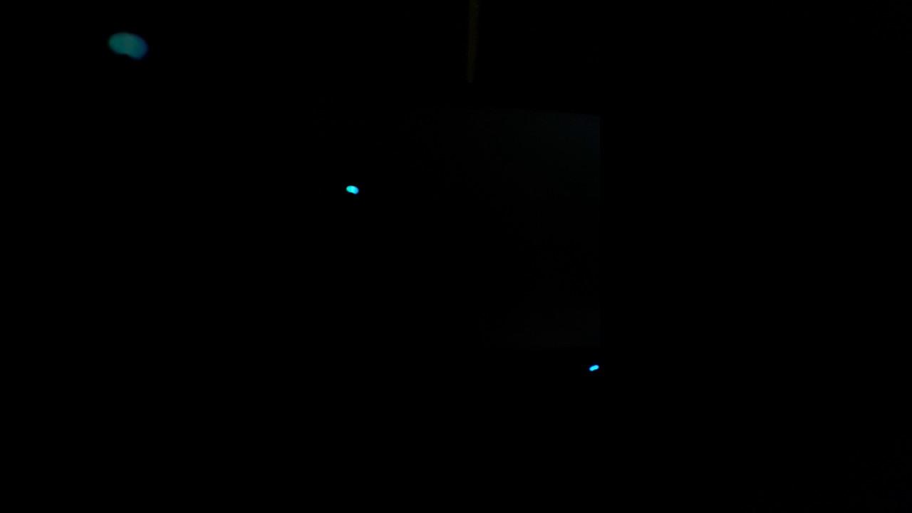 ecran noir avec souris