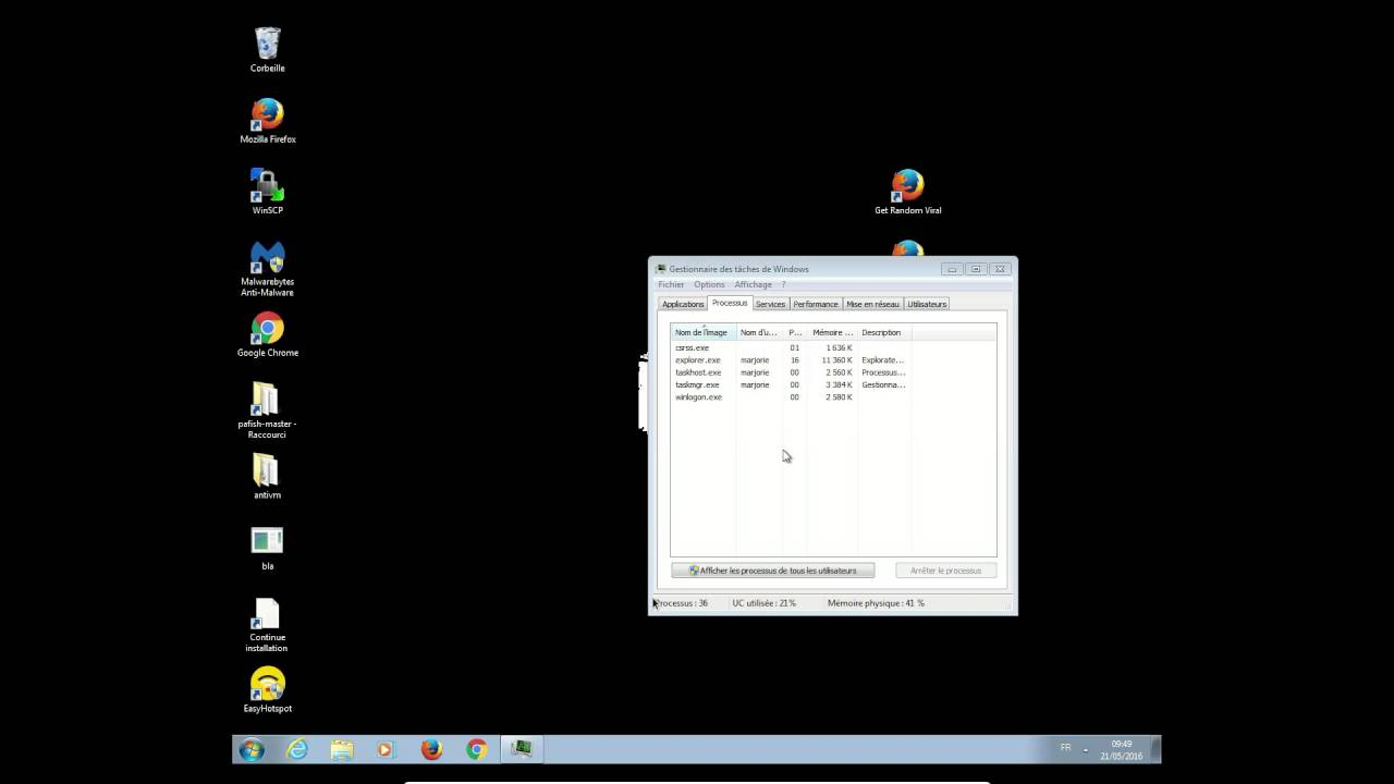 ecran noir sur windows 8